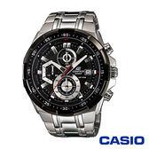 CASIO卡西歐 流線魅力三眼指針計時男腕錶-黑x49mm  EFR-539D-1A