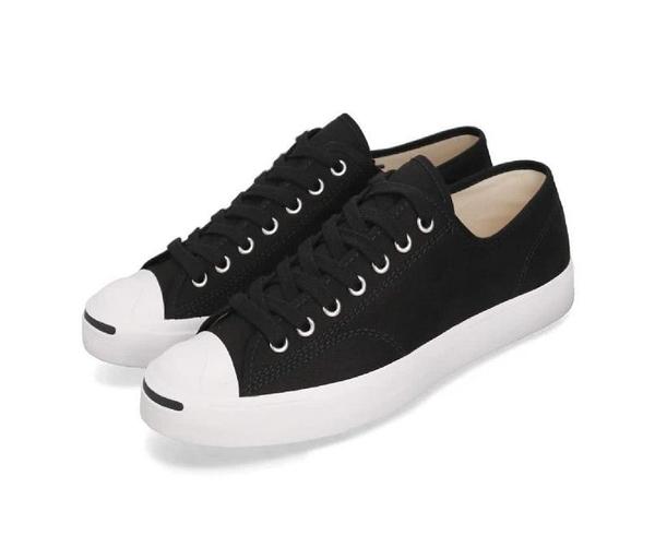 CONVERSE-男女款黑色開口笑低筒鞋 Jack Purcell-NO.164056C