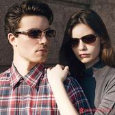 太陽眼鏡墨鏡偏光 夢特嬌 時尚中性款-黑金屬框