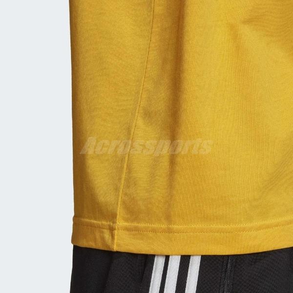 adidas 短袖T恤 Trefoil T-Shirt 黃 黑 男款 短T 運動休閒 【ACS】 GD9913