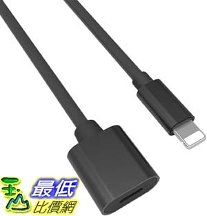 [9美國直購] Bebetter 延長線 B07PDGC33F Extension Cable (Black, 3.3FT/1M) Extender Dock Cable  _D21