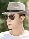 帽子男士夏天英倫爵士帽韓版潮小禮帽遮陽帽子中年出游禮帽男青年