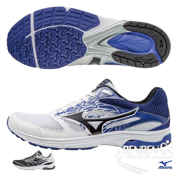 美津濃 MIZUNO 男慢跑鞋 (白/藍) WAVE EMPEROR TR2 皇速!輕量路跑鞋【 胖媛的店 】