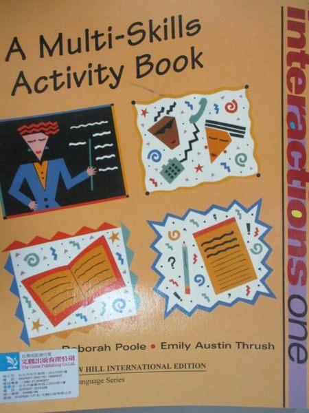 【書寶二手書T1/語言學習_ZIP】Interactions one. A multi-skills activity book