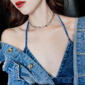 個性鏈條鎖骨鏈女性感項鏈脖子飾品日韓項圈時尚頸鏈 森雅誠品