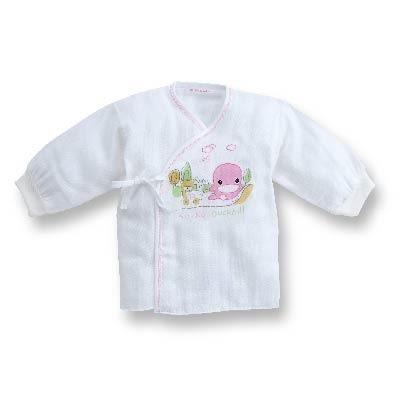 【奇買親子購物網】酷咕鴨KU.KU. 緹花紗布肚衣(藍色/粉色)
