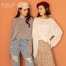 PUFII-針織上衣 兩穿透膚長袖針織上衣-1013 現+預 秋【CP19212】