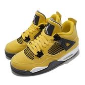 Nike 籃球鞋 Air Jordan 4 Retro GS Lightning AJ4 電母 黃 黑 喬丹 女鞋 【ACS】 408452-700