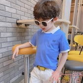 男童短袖t恤夏季polo衫純棉兒童夏裝上衣【聚可愛】