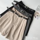 五分褲 休閒褲女2021年夏季新款女裝韓版高腰垂感西裝褲直筒寬鬆五分褲子 【99免運】
