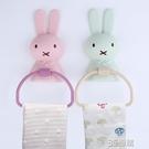 兒童毛巾架免打孔衛生間浴室卡通小可愛創意寶寶洗臉掛掛鉤掛架桿 3C優購