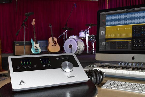 【金聲樂器】Apogee Quartet 頂級錄音介面 for iPad MAC