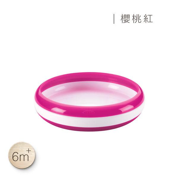美國 OXO tot幼兒餵食防滑餐盤(櫻桃紅)