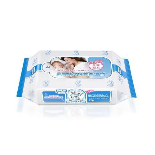 貝恩 BAAN 嬰兒保養柔濕巾-無香料20抽*3包*20串(箱購)(南六代工)2018新款[衛立兒生活館]
