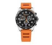 VICTORINOX 瑞士維氏 碼表計時 手錶 VISA-241893 亮眼橘/42mm