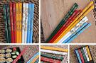 日式和風木竹筷5入組五色花040570通販屋