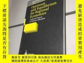 二手書博民逛書店Optimum罕見and Equilibrium for Regional Economies (精裝)【 95品