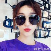 夏季金屬大框顯瘦透明色太陽鏡簡約流行男士墨鏡街拍網紅同款眼鏡 潔思米