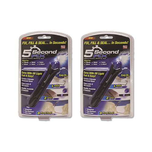 【美國代購-現貨】5 Second Fix Liquid Plastic Welding Kit 5秒黏接UV光線筆(2支入)