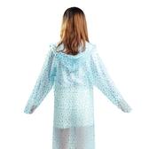 雨衣雨衣時尚透明風長款防水戶外行走旅游雨披波點便攜男女 宜室家居