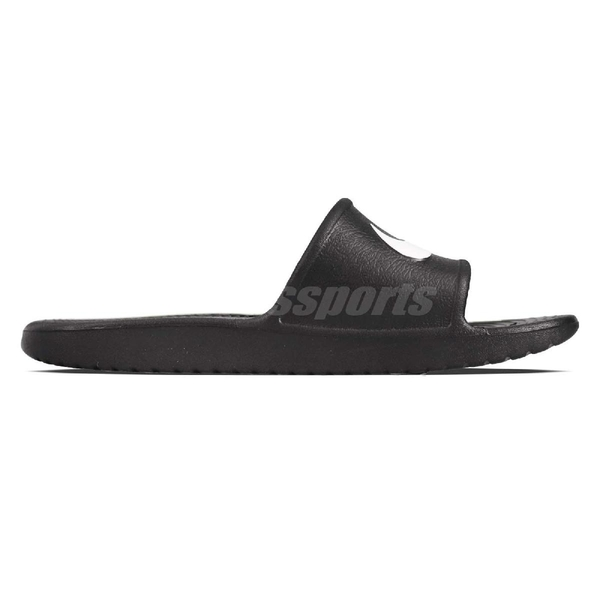 Nike 拖鞋 Kawa Shower 黑 白 防水 大勾勾 舒適鞋底 基本款 男鞋【PUMP306】 832528-001