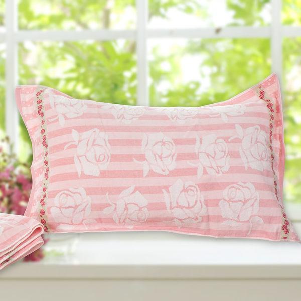 枕巾/刺繡純棉枕巾2入/玫瑰花園(3款任選)美國棉授權品牌[鴻宇]B201