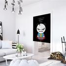 預購★0223-16簡約北歐卡通棉麻布藝門簾定做兒童房間可愛窗簾臥室裝飾掛簾半簾(85*120/半開)