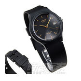 CASIO卡西歐 MW-59-1E 指針錶 正韓 黑面 黑金配色 日期 輕巧設計 復古錶 簡約 35mm MW-59-1EVDF