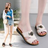 拖鞋 外穿時尚平底休閒學生百搭韓版2018新款LJ9968『miss洛羽』