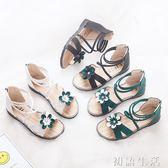 凉鞋女童涼鞋新款韓版夏季露趾小女孩公主鞋兒童沙灘軟底羅馬鞋子 初語生活