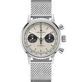 Hamilton 漢米爾頓INTRA-MATIC 正熊貓手上鍊計時機械錶(H38429110)