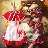 聖誕節服裝 英雄 小紅帽 聯盟lol cos 小紅帽安妮女仆裝cosplay服裝圣誕節女耶誕節