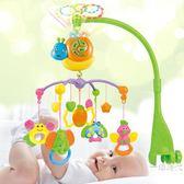 1歲新生嬰兒床鈴音樂旋轉0-3-6個月男孩女寶寶益智玩具床頭鈴搖鈴WY