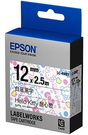 LC-4WBY EPSON Kitty系列甜心款白底黑字標籤帶(寬度12mm) C53S625058