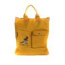 KANGOL 側背包 大容量 帆布 黃色 6125170860 noC88