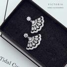 S925純銀奢華、華麗設計感耳環-維多利亞200237