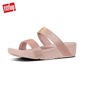 【FitFlop】LOTTIE GLITZY SLIDES 經典水鑽涼鞋-女(玫瑰金)