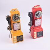 過年仿古電話 創意家居仿古存錢罐擺件 高端座機樹脂工藝品復古電話機一件代發 俏女孩