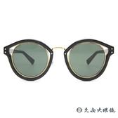 Dior 太陽眼鏡 Elliptic FU285 (黑-金) 時尚 圓框 墨鏡 久必大眼鏡