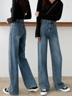 牛仔褲女春裝2020年新款潮春季寬鬆顯瘦高腰垂感直筒拖地闊腿