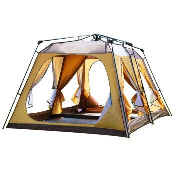 [UF72戶外露營]東方駱駝系列 10-12人 多人雙層自動防暴雨露營帳篷 6門設計空間大CM095
