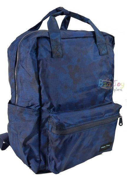 HAPI+TAS 摺疊手提後背包 - 男版深藍迷彩
