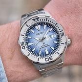 【台南 時代鐘錶 SEIKO】精工 Prospex 愛海洋 企鵝 SRPG57K1 兩百米潛水錶 鋼錶帶機械錶 4R36-11C0H 藍