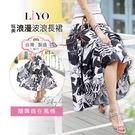 LIYO理優MIT印花雪紡長裙E733002