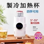 【現貨秒殺】桌上小冰箱快速製冷加熱杯小型極速降溫冷飲熱飲四季可用製冰機