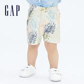 Gap嬰兒 布萊納系列 童趣抽繩裝飾休閒短褲 820153-棕櫚樹圖案