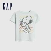Gap女童 Gap x Snoopy 史努比系列純棉短袖T恤 701046-淺綠色