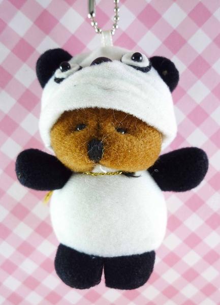 【震撼精品百貨】日本精品百貨-鑰匙圈-熊變熊貓