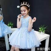 花童禮服 公主裙連身裙童裝寶寶洋氣兒童正韓蓬蓬紗裙