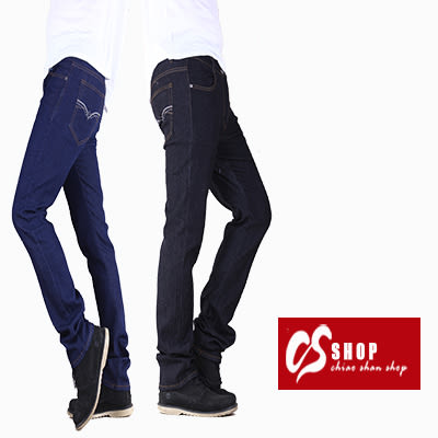 CS衣舖 Levis版型 窄版彈性 小直筒牛仔褲 單寧原色 667375